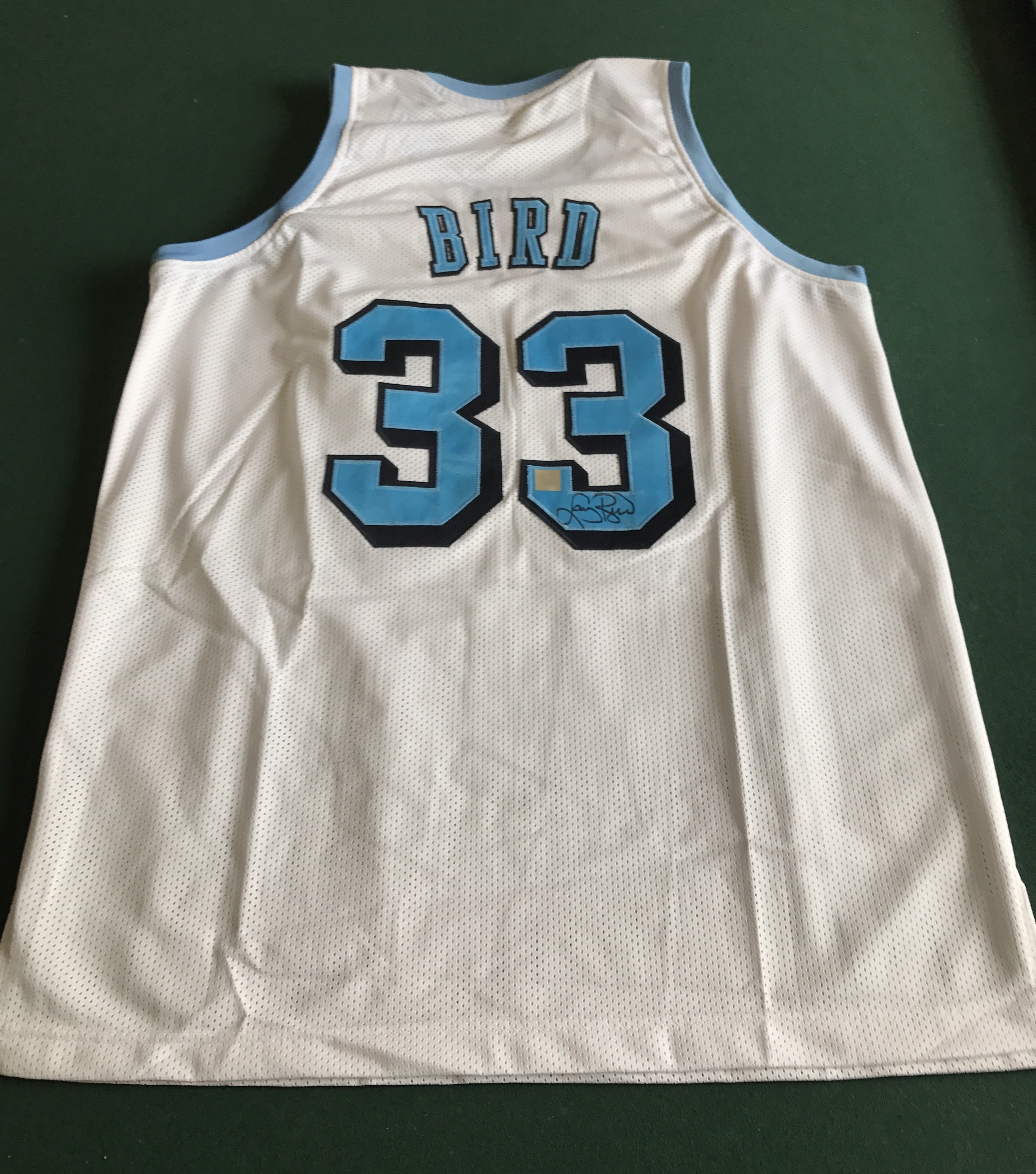 save off 867ac 5cf4d Larry Bird Signed Indiana State Jersey SSG Certified