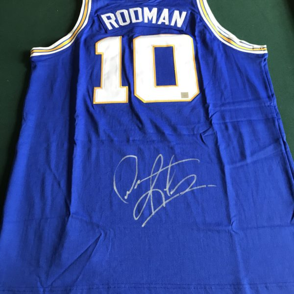 "on sale 477db 1cc15 Dennis Rodman Signed Southeastern Oklahoma State ""Savage Storm"" Jersey SSG  Certified"