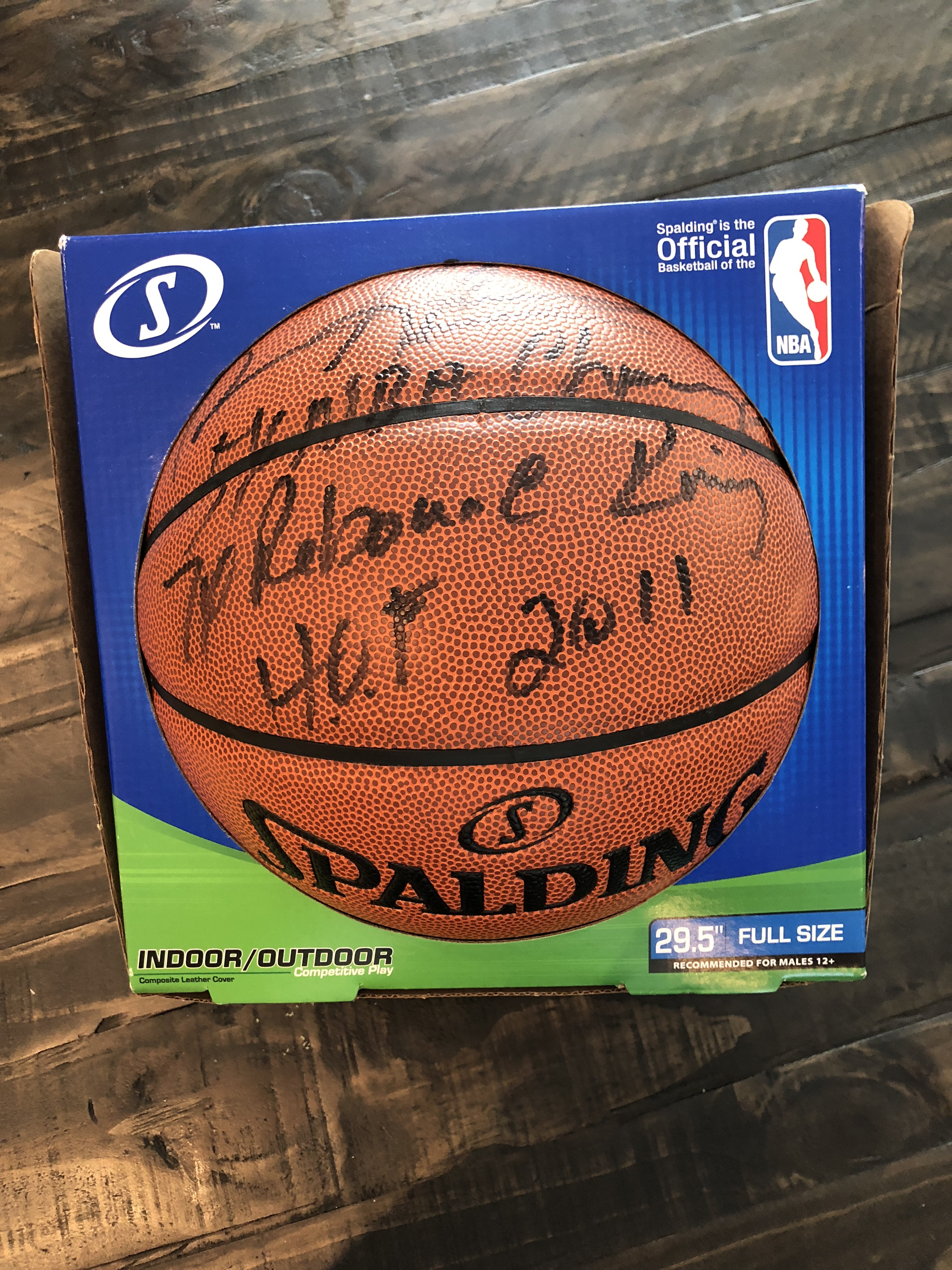 "new concept 492f3 b7f5e Autographed Dennis Rodman Basketball with inscription ""7x NBA Champ 7x  Rebound King HOF 2011"""